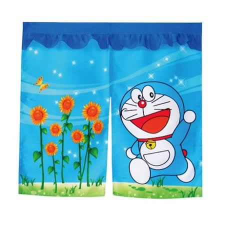 哆啦A夢Doraemon向日葵中門簾-藍90x85cm(FL824)