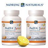 【Nordic Naturals】北歐天然 - 小益Q 魚油膠囊食品-天然檸檬口味(90顆× 2 瓶超值套裝組)