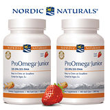 【Nordic Naturals】北歐天然 - 愛Q 魚油膠囊食品 - 天然草莓口味(90顆× 2 瓶超值套裝組)