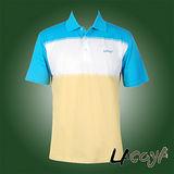 LACOYA  男短袖POLO衫(AP140-4藍綠)