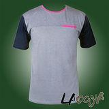 LACOYA  男短袖圓領T恤(AP142-3麻灰)