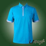 LACOYA  男短袖POLO衫(AP135-4藍綠)