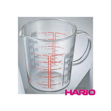 日本【HARIO】玻璃手把量杯500ml / CMJW-500