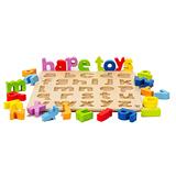 德國Hape愛傑卡-abc小寫立體木拼圖