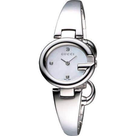 【真心勸敗】gohappy快樂購GUCC I Guccissima 時尚真鑽手鐲腕錶-珍珠貝/銀/27mm YA134504效果如何愛 買 薪水