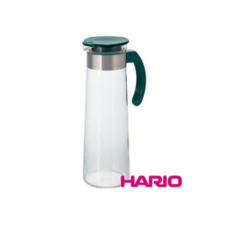 日本【HARIO】深綠典雅把手冷泡壺1000ml / MDH-10DG