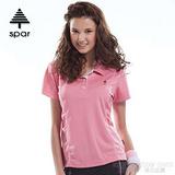 【SPAR】女款 抗UV機能上衣/原紗線/POLO衫.具舒適.吸濕排汗.快乾透氣.抗臭.耐穿排汗衣 R13384