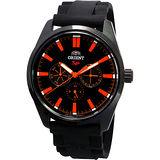 ORIENT SP 冒險家時尚全日曆腕錶(黑膠帶/42mm) FUX00002B