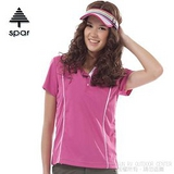 【SPAR】女款 抗UV機能上衣/原紗線/POLO衫.具舒適.吸濕排汗.快乾透氣.抗臭.耐穿排汗衣 R13381