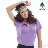 【SPAR】女款 抗UV機能上衣/原紗線/POLO衫.具舒適.吸濕排汗.快乾透氣.抗臭.耐穿排汗衣 R13380