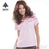 【SPAR】女款 抗UV機能上衣/原紗線/POLO衫.具舒適.吸濕排汗.快乾透氣.抗臭.耐穿排汗衣 SA102377