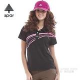 【SPAR】女款 抗UV機能上衣/原紗線/POLO衫.具舒適.吸濕排汗.快乾透氣.抗臭.耐穿排汗衣 SA102376