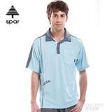 【SPAR】男款 抗UV機能上衣/原紗線/POLO衫.具舒適.吸濕排汗.快乾透氣.抗臭.耐穿排汗衣 SA102355