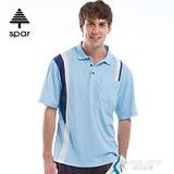 【SPAR】男款 抗UV機能上衣/原紗線/POLO衫.具舒適.吸濕排汗.快乾透氣.抗臭.耐穿排汗衣 SA102356