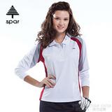 【SPAR】女款 抗UV機能薄長袖上衣/原紗線/POLO衫.具舒適.吸濕排汗.快乾透氣.抗臭.耐穿排汗衣 R13397