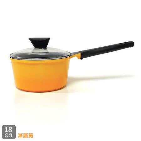 韓國NEOFLAM Venn系列 18cm陶瓷不沾單柄湯鍋+玻璃鍋蓋(EK-VE-S18)