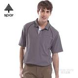 【SPAR】男款 抗UV機能上衣/原紗線/POLO衫.具舒適.吸濕排汗.快乾透氣.抗臭.耐穿排汗衣 SA102350