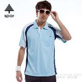 【SPAR】男款 抗UV機能上衣/原紗線/POLO衫.具舒適.吸濕排汗.快乾透氣.抗臭.耐穿排汗衣 R13364