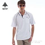 【SPAR】男款 抗UV機能上衣/原紗線/POLO衫.具舒適.吸濕排汗.快乾透氣.抗臭.耐穿排汗衣 SA102351