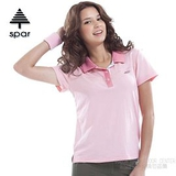 【SPAR】女款 抗UV機能上衣/原紗線/POLO衫.具舒適.吸濕排汗.快乾透氣.抗臭.耐穿排汗衣 SA102373