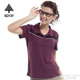 【SPAR】女款 抗UV機能上衣/原紗線/POLO衫.具舒適.吸濕排汗.快乾透氣.抗臭.耐穿排汗衣 SA102370