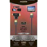 【avier】HDMI精裝湛黑塑盒組(HDMI線2M+Mini/Micro HDMI轉接頭) 傳輸高畫質影像(2入組)