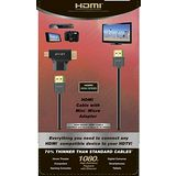 【avier】HDMI精裝湛黑塑盒組(HDMI線2M+Mini/Micro HDMI轉接頭) 傳輸高畫質影像(3入組)