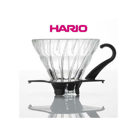日本【HARIO】V60黑色01玻璃濾杯1~2杯 / VDG-01B