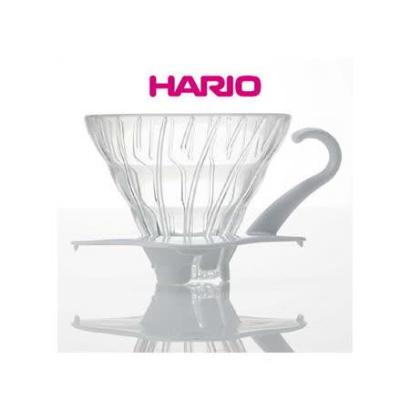 【HARIO】V60白色01玻璃濾杯1~2杯/ VDG-01W