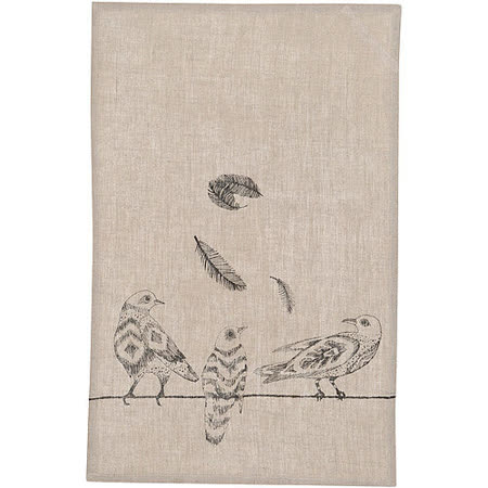 《DANICA》亞麻桌飾襯布(鳥繪)