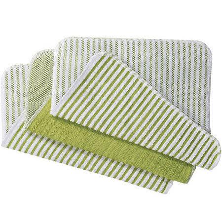 《NOW》網紋廚用擦拭巾(綠3入)