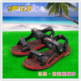 [GP]阿亮代言-新款親子系列(36-43)尺碼-休閒舒適磁釦涼鞋 G3635-14(黑紅色)共有三色