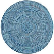 《NOW》織紋圓餐墊(藍)