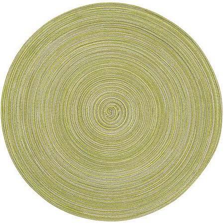 《NOW》織紋圓餐墊(綠)