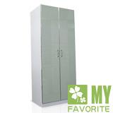 最愛傢俱 時尚之星  2.7呎 鋼烤亮面 衣櫥