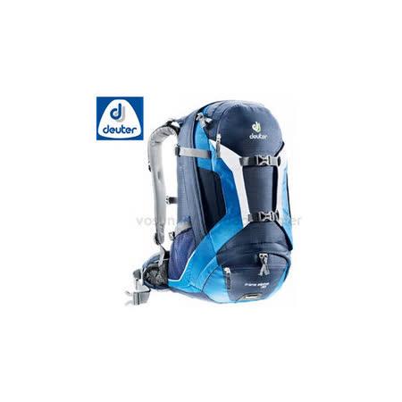 【德國 Deuter】Trans Alpine 30 自行車網架透氣背包.旅遊休閒背包.登山背包.雙肩後背包/32223 深藍/藍