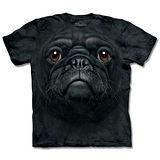 『摩達客』*大尺碼3XL*(預購)美國進口【The Mountain】自然純棉系列 黑巴哥犬臉 設計T恤