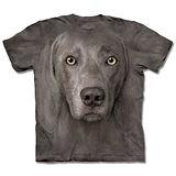 『摩達客』*大尺碼3XL*(預購)美國進口【The Mountain】自然純棉系列 威瑪獵犬臉 設計T恤