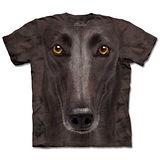 『摩達客』*大尺碼3XL*(預購)美國進口【The Mountain】自然純棉系列 葛雷犬臉 設計T恤