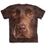 『摩達客』*大尺碼3XL*(預購)美國進口【The Mountain】自然純棉系列 棕拉不拉多犬臉 設計T恤