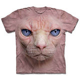 『摩達客』*大尺碼3XL*(預購)美國進口【The Mountain】自然純棉系列 無毛貓臉 設計T恤