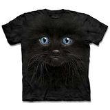 『摩達客』*大尺碼3XL*(預購)美國進口【The Mountain】自然純棉系列 黑色小貓 設計T恤