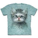 『摩達客』(預購)美國進口【The Mountain】自然純棉系列 藍眼小貓 設計T恤