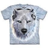 『摩達客』*大尺碼3XL*(預購)美國進口【The Mountain】自然純棉系列 DJ白狼 設計T恤