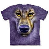 『摩達客』(預購)美國進口【The Mountain】自然純棉系列 紫狼臉 設計T恤
