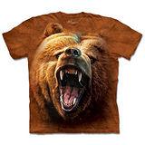 『摩達客』*大尺碼3XL*(預購)美國進口【The Mountain】自然純棉系列 棕熊怒吼 設計T恤