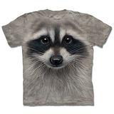 『摩達客』*大尺碼3XL*(預購)美國進口【The Mountain】自然純棉系列 浣熊臉 設計T恤