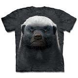 『摩達客』*大尺碼3XL*(預購)美國進口【The Mountain】自然純棉系列 蜜獾 設計T恤