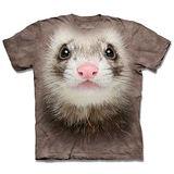 『摩達客』*大尺碼3XL*(預購)美國進口【The Mountain】自然純棉系列 白鼬臉 設計T恤