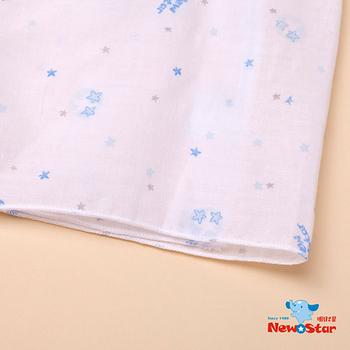 【聖哥-明日之星Newstar】MIT 100%純棉小星星新生兒/嬰兒棉紗布衣(下擺密拷-碎花 小星星款)
